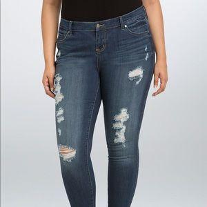 Torrid Distressed High Rise Jeans